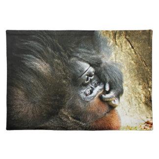 Lounging Gorilla Placemat