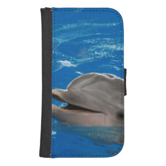 Lovable Dolphin Samsung S4 Wallet Case