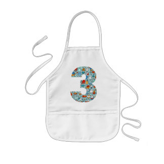 Lovable Little Monsters Number Three Apron