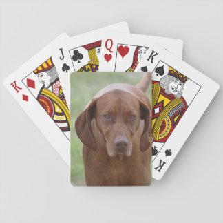 Lovable Vizsla Playing Cards