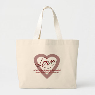Love 1 Peter 4:8 Large Tote Bag