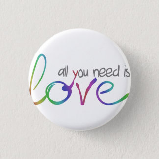 Love 3 Cm Round Badge