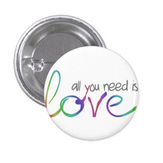 Love 3 Cm Round Badge