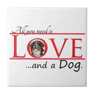 Love a Bernese Mt. Dog Tile