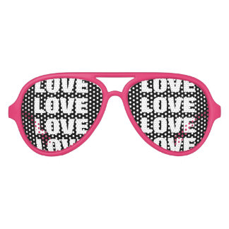 Love addiction party shades Funny pink sunglasses