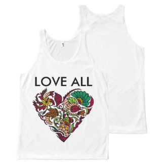 Love all All-Over print singlet