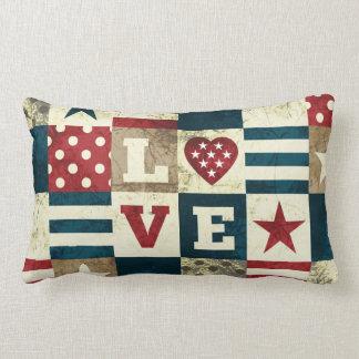Love America Patriotic Lumbar Pillow