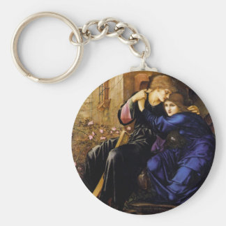 Love among the ruins Pre-Raphaelite Art Basic Round Button Key Ring