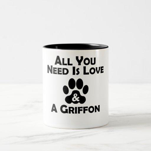 Love And A Griffon Mugs
