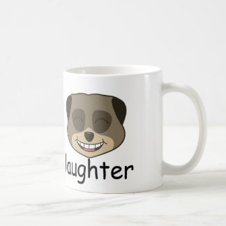 Love and laughter expression basic white mug