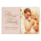 Love and Thanks   Wedding Thank You Card