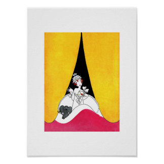 Love. Art Deco Art Poster