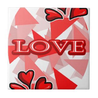 Love Art/Design Small Square Tile