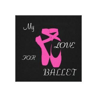 Love Ballet Stretched Canvas Print
