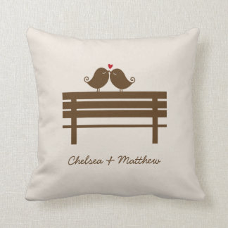 Love Birds Bench {red} Cushions