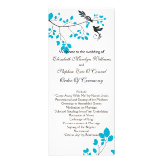 Love Birds Blue Personalized Rack Card