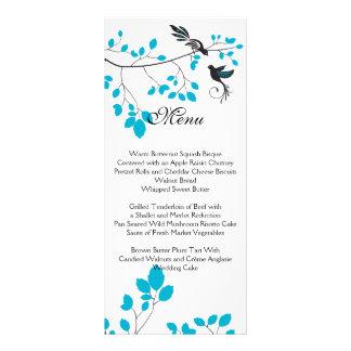 Love Birds Blue Customized Rack Card