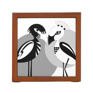 Love Birds Desk Organiser