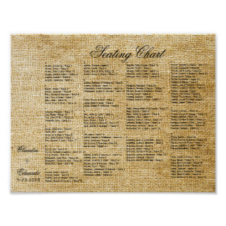 Love Birds Forever on Burlap Poster