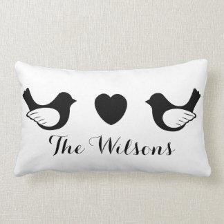 Love Birds Personalized Wedding Pillow