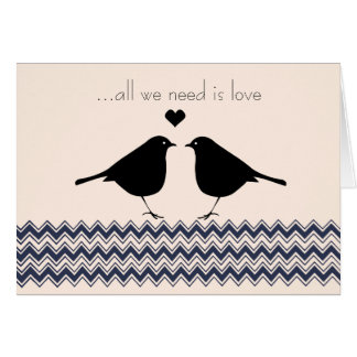 Love Birds Zigzag Card