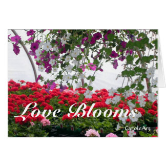 Love Blooms Valentine Greeting Card