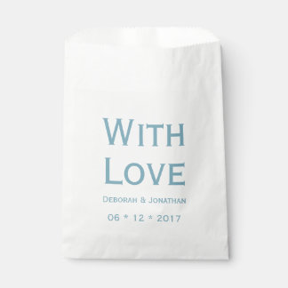 Love Blue And White Personalized Wedding Favour Bags