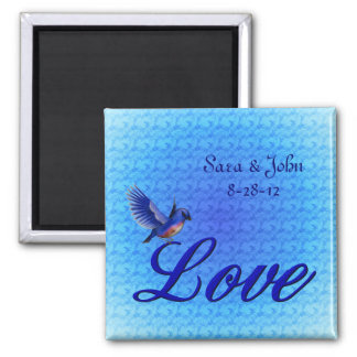 Love Bluebird Wedding Favor Magnet