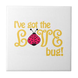 Love Bug Small Square Tile