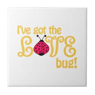 Love Bug Small Square Tile