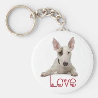 Love Bull Terrier Puppy Dog Keychain