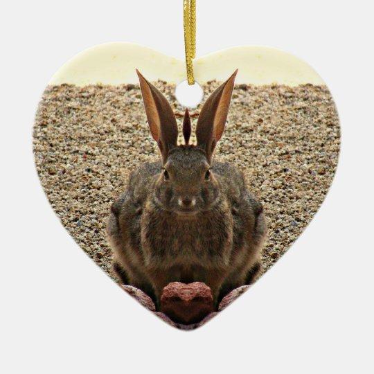 """Love Bunny"" Heart Ornament"
