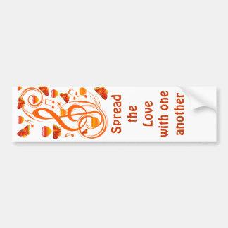 Love & Butterflies,Music notes_ Bumper Sticker