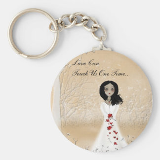 Love Can Touch Us One Time Basic Round Button Key Ring