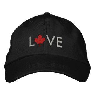 Love Canada Cap - Canada Maple Leaf Hat Embroidered Cap