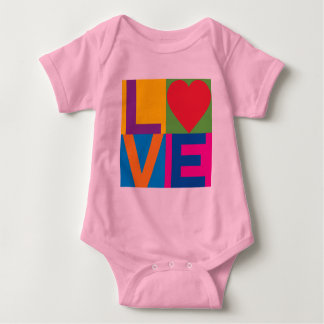 Love Checked Baby Bodysuit