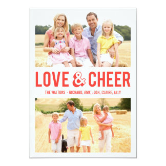 LOVE & CHEER Holiday Photo Cards RED