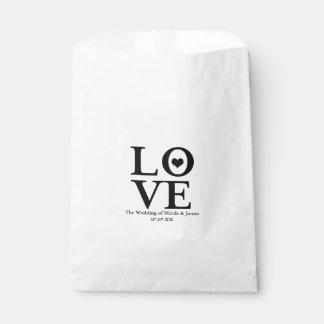 Love Chic Modern Wedding Black & White Favor Favour Bags