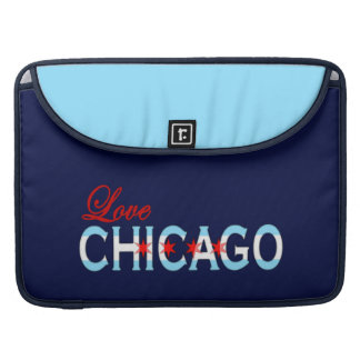 Love Chicago, Chicago Flag Design Sleeve For MacBooks