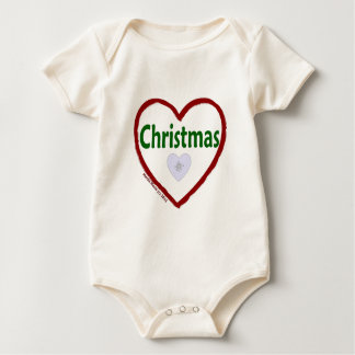 Love Christmas Baby Bodysuit