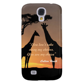 Love Colleen Houck quote giraffes nature design Samsung Galaxy S4 Covers