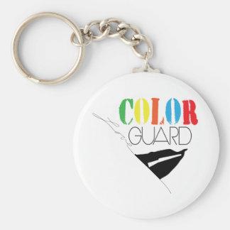 Love Color Guard Button Key Chain