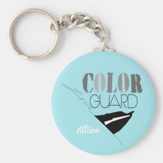 Love Color Guard With Rifle And Flag Key Ring