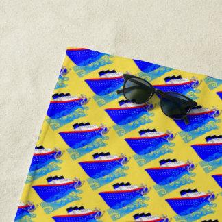 Love Cruising Fun Vacation Cruise Ship Beach Towel