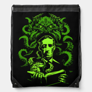Love Cthulhu Drawstring Bag