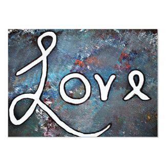 """Love"" Customizable Anniversary Party Invitation"