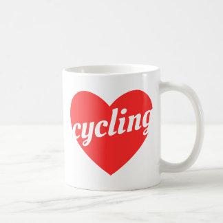 Love Cycling. Bike themed gift Basic White Mug