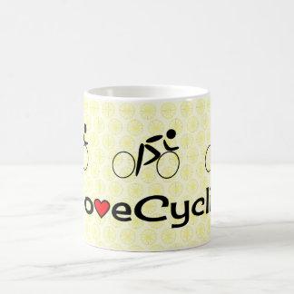 Love cycling pictogram cream basic white mug
