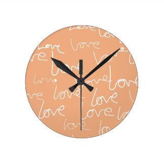 love doodles round clock