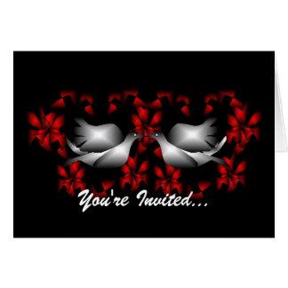 Love Doves Blank Invitation Greeting Card